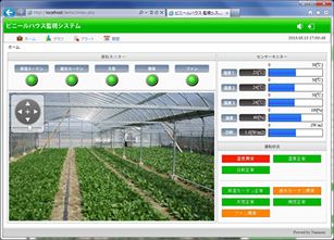 ハウス栽培・植物工場の遠隔監視システム